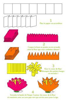 Offrir des fleurs papier cr pon id es pour la f te des m res best bricolage and origami ideas - Fabriquer des fleurs en papier crepon ...