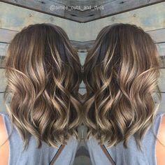 Ash Brown Balayage Wavy Hair #hairbeauty