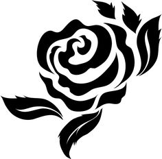 Bold Rose With Leaves Rubber Stamp Rose Stencil, Leaf Stencil, Stencil Painting, Fabric Painting, Bird Stencil, Stenciling, Stencil Patterns, Stencil Designs, Lotus Flower Art