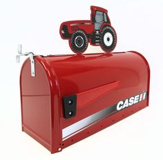 Case IH Steel Mailbox with Magnum Tractor Topper
