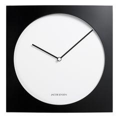 Jacob Jensen Wall Clock 320 Wanduhr Schwarz-Weiss, LOVINHOME