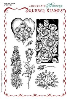 Rose and Thistle A5 stamp set