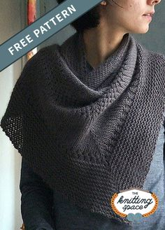 Textured Knitted Triangle Shawl [FREE Knitting Pattern] - Looking for a versatile knitwear to add to your daily wardrobe? Try your hands on this simple yet chic knitted shawl that easily converts into a scarf. Fall Knitting Patterns, Prayer Shawl Patterns, Easy Knitting, Loom Knitting, Knitting Stitches, Knitting Designs, Free Knit Shawl Patterns, Knitting Tutorials, Knitting Machine