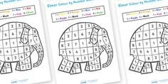 Elmer Colour By Number