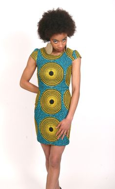 Simple afro-print statement dress. Copying this design asap! | STYLES AFRIK::PRODUCT