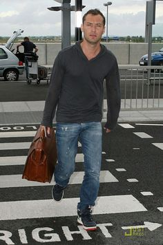 Fly in comfort yet still stylish   Jude in Dior Homme jeans #menswear