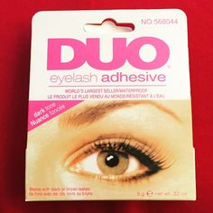 The BEST lash adhesive! The absolute BEST lash glue by Duo.  Recommend by Marie Claire magazine (last photo) and by me! This lash glue is tinted, waterproof, and really sticks! It also is hard on your lashes. It's the best! NIB #duoadhesive #lashglue #falsies #falselashes #waterproof #tinted #duo #eyelash #adhesive #best #mua #muatools Duo Makeup False Eyelashes