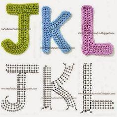 Crochet Capital Letters free Pattern 2D Symbol Pattern