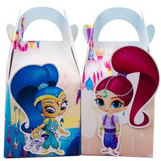 4x Shimmer and Shine Lolly Loot Bag Box Party Supplies Bunting Banner Cake