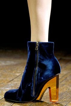 Amazing lucite and velvet Dries Van Noten bootie