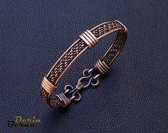 Men copper cuff bracelet,Copper Men cuff bracelete,Wire braided men bracelet,Men jewelry,Men Bangle Bracelet,Men Cuff Bracelet,Free Shipping
