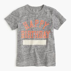Introducing the most personable birthday gift ever, in T-shirt form. Here's how it works: You can have us add his monogram , or you can write something on it yourself using your own puff paint or markers. Either way, it'll make a super-awesome present that he'll be able to wear the other 364 days of the year too! <ul><li>To have this item monogrammed with his full name (for $10), please call 800 261 7422.</li><li>Cotton.</li><li>Machine wash.</li><li>Import.</li></ul>