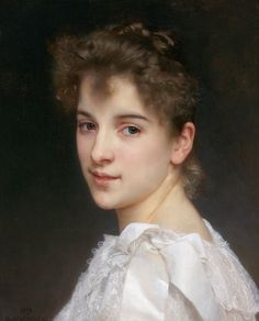 ~ Pierre Auguste Cot ~ French artist, 1837-1883: Gabrielle Cot, daughter of Pierre Auguste Cot