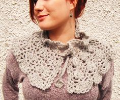 Grey Crochet Capelette  Ask a Question $44.55 USD. IRELAND