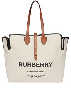 Burberry The Large Soft Cotton Canvas Belt Bag - White Large Tote, Large Bags, Sacs Design, Burberry Handbags, Burberry Tote Bag, Luxury Bags, Fashion Handbags, Calf Leather, Purses And Bags