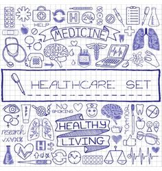 Doodle medical set of icons vector by Paket on VectorStock®