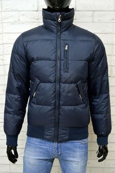 Dettagli su Piumino Blu Uomo MURPHY   NYE Taglia S Jacket Man Giubbotto  Giacca Piuma D oca 81d9c099c0c