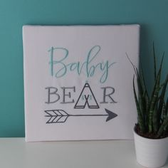 Bear, Boutique, Custom Canvas, Small Canvas, Quirky Gifts, Gift Ideas, Bears, Boutiques