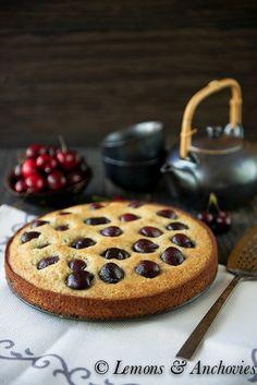 Cherry-Almond Cake   http://lemonsandanchovies.com