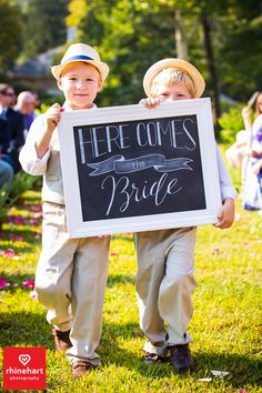 Cute ideas for ringbearers-- chalk board sign and hats-- Peter Allen House Wedding Photographer Harrisburg Creative-114