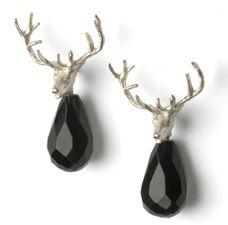 ANNETTE DICKOW-DK Munck Trophy-earrings silver,black spinel drop