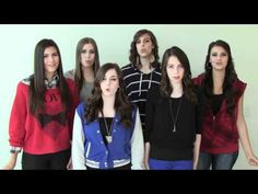 This is the cimorelli band and their all.....Ah-mazing! Their singing turn up the music by Chris Brown.I don't like the orignal song by him but I LUV their version a lot better!