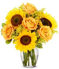 Fall Roses and Sunflowers $49.99