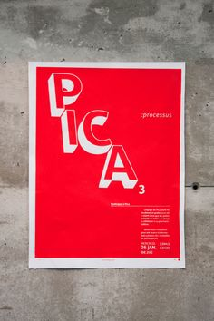 Pica Mag events posters by Etienne Vles, via Behance