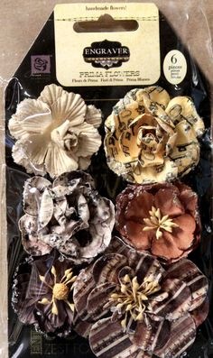 Prima Engraver Roses Handmade Flowers is available at Scrapbookfare.