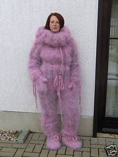 Gros Pull Mohair, Angora, Catsuit, Overalls, Fur Coat, Pajamas, Pullover, Suits, Knitting