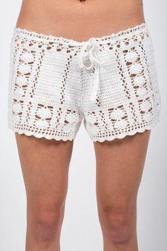 Byron Crochet Shorts - Ivory