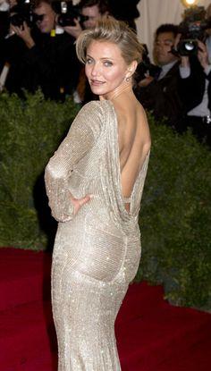 Cameron Diaz in a Stella McCartney gown #greencarpet