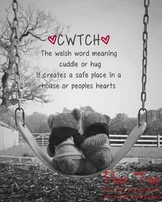 Cwtch Teddies On A Swing Fine Art Photograph Print, Welsh Wales Quote by JosieVanessaPhotos on Etsy Welsh Sayings, Welsh Words, Learn Welsh, Welsh Language, Welsh Gifts, Little Britain, Katherine Jenkins, Welsh Dragon, Cymru