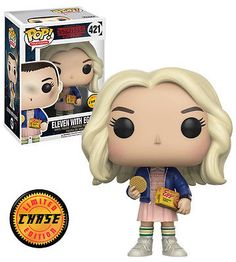 FUNKO POP! CHASE RARE Stranger Things Eleven With Eggos (With Wig) #421 Mint #FunkoPop #Collectibles