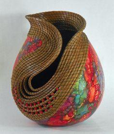 Judy Richie | Fine Gourd Art sculpture | Rogoway Turquoise Tortoise Gallery | Tubac AZ