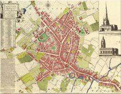 BIRMINGHAM'S GEORGIAN AND REGENCY STREETS: 1750 Map of Birmingham