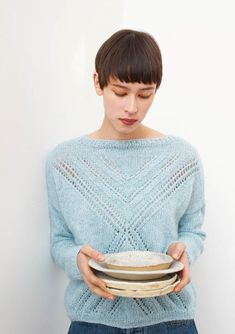 Creating DIY Fashion Trends – Designer Fashion Tips Summer Knitting, Lace Knitting, Knitting Stitches, Knitting Designs, Knitting Patterns, Mode Crochet, Knit Crochet, Chrochet, Mohair Sweater