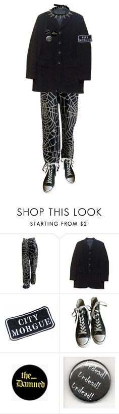 """Untitled #199"" by amerisal ❤ liked on Polyvore featuring Moschino, Yohji Yamamoto, Converse and The Damned"