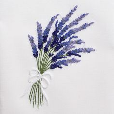 LavenderHand Towel - White Cotton – Henry Handwork