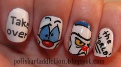 Tutorials on this blog for funky nail art with acrylic paints.     .       .        .    Pinky: Gee, Brain, what do you want to do tonight? Brain: The same thing we do every night, Pinky - try to take over the world!
