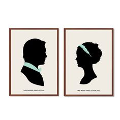 One Word, Three Letters Poster : 'Chair' Modern Illustration Gossip Girl TV Series Retro Art Wall Decor - Set of Two Prints A3 11 x 16 on Etsy, $35.00