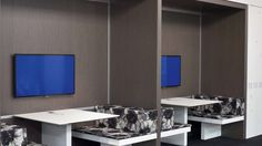 Haworth Office Furniture set up as booths