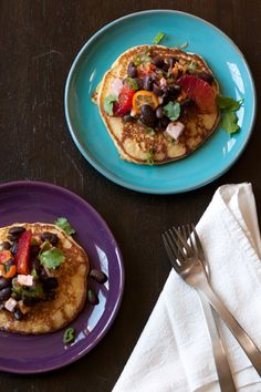 Blood Orange Black Bean Blini by localkitchenblog with Blini recipe adapted from Martha Rose Shulman. #Blini #Black_Bean #Blood_Orange #localkitchenblog