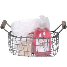 Savons a La Rose Soap and Wash Basket