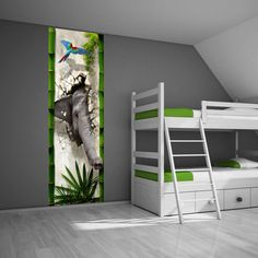 Muursticker paneel Jungle - Kinderkamer Junglekamer idee