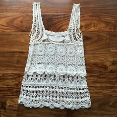 SALE!! American rag crocheted top Love this so much! No snags or stains in good condition. Top is 100% cotton. Make me an offer! American Rag Tops Tank Tops