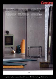 Italy | Living, Corriere della Sera | November 2014 | LC9, design Charlotte Perriand | Discover more on:http://cassina.com/it/collezione/sedie-e-poltroncine/lc9