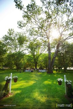Riverdale Manor wedding ceremony by the river