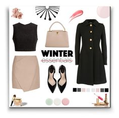 """What Are Your Winter Essentials?"" by emma-avigdor ❤ liked on Polyvore featuring Miu Miu, Carven, Thakoon, Zara, Louis Vuitton, Essie, Christian Dior, Bobbi Brown Cosmetics, Nails Inc. and Hourglass Cosmetics"