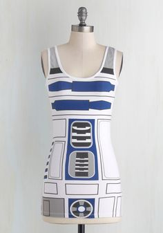 You R2 Cute Top. Have you ever droid with the idea that your geek-chic style is the most adorbs around? #white #modcloth